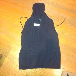 Old Navy Black Sleeveless Cable Knit Sweater